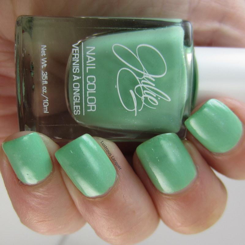 mint green nail polish. Tahiti from Julie G Cruise Collection