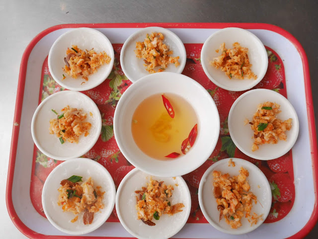 Banh beo or streamed rice cake, Hue, Vietnam