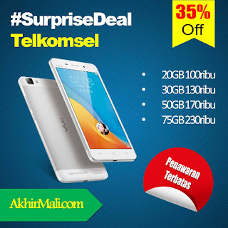 20GB 100 ribu 30GB 130rb 50GB 170rb 75GB 230ribu #SurpriseDeal Telkomsel