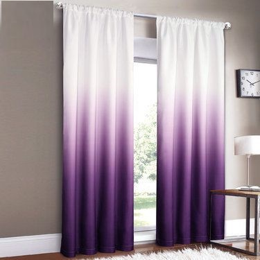 Purple And Grey Curtains For Bedroom
