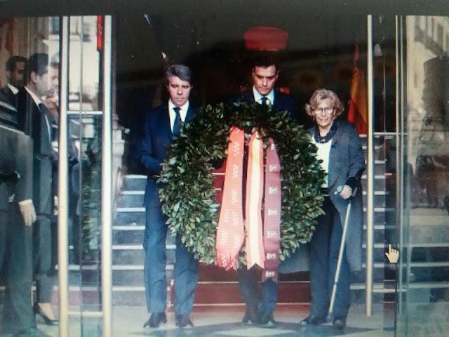Corona de Laurel en el acto homenaje a las victimas del 11M
