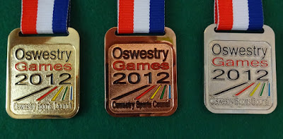 Oswestry Games medals in 2012