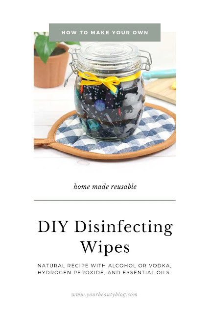 How to make your own disinfecting wipes. Use paper towels or make reusable cloth wipes for this homemade recipe. Learn how to make homemade DIY reusable disinfectant wipes with vodka or with alcohol, hydrogen perodide, and essential oil like Thieves. Use rubbing alcohol or a grain vodka for natural home made wipes. DIY homemade cleaning wipes to disinfect. #diy #reusable #ecofriendly #disinfecting