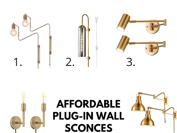 HERE ARE SOME AFFORDABLE PLUG-IN WALL SCONCES FROM AMAZON