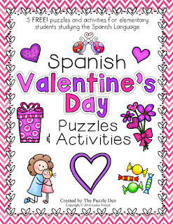 Spanish Valentine's Day Puzzles and Activities from The Puzzle Den