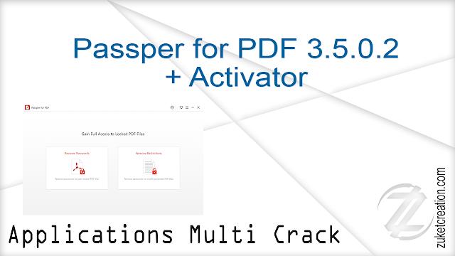 Passper for PDF 3.5.0.2 + Activator