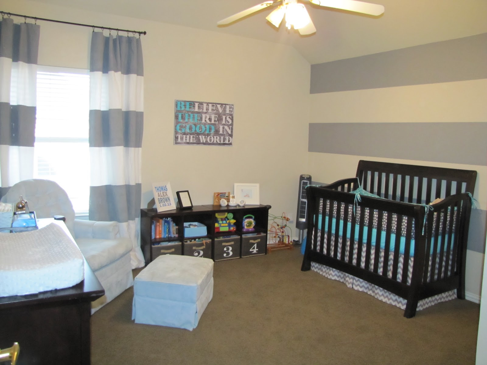 lil Mop Top: Grey and Blue Nursery