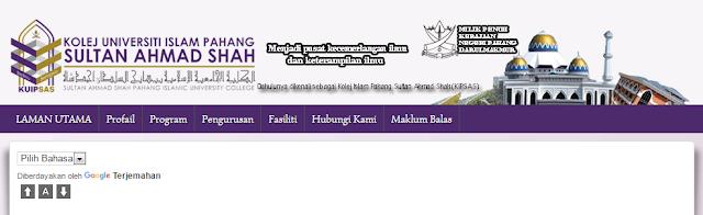 Rasmi - Jawatan Kosong di (KUIPSAS) Kolej Universiti Islam Pahang Sultan Ahmad Shah Terkini 2019