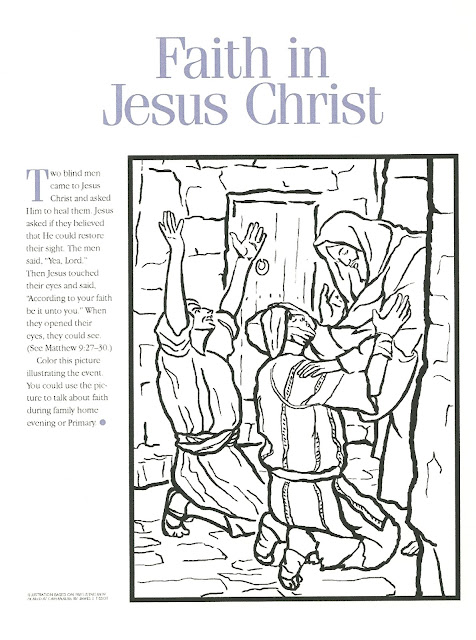 Jesus Heals A Man Born Blind Coloring Page