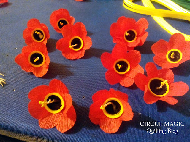 Coronita cu lalele de hartie circul magic quilling blog