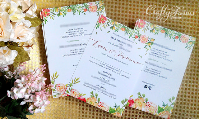 Floral Church Garden Wedding Invitation Card in Sheraton Imperial Hotel Kuala Lumpur