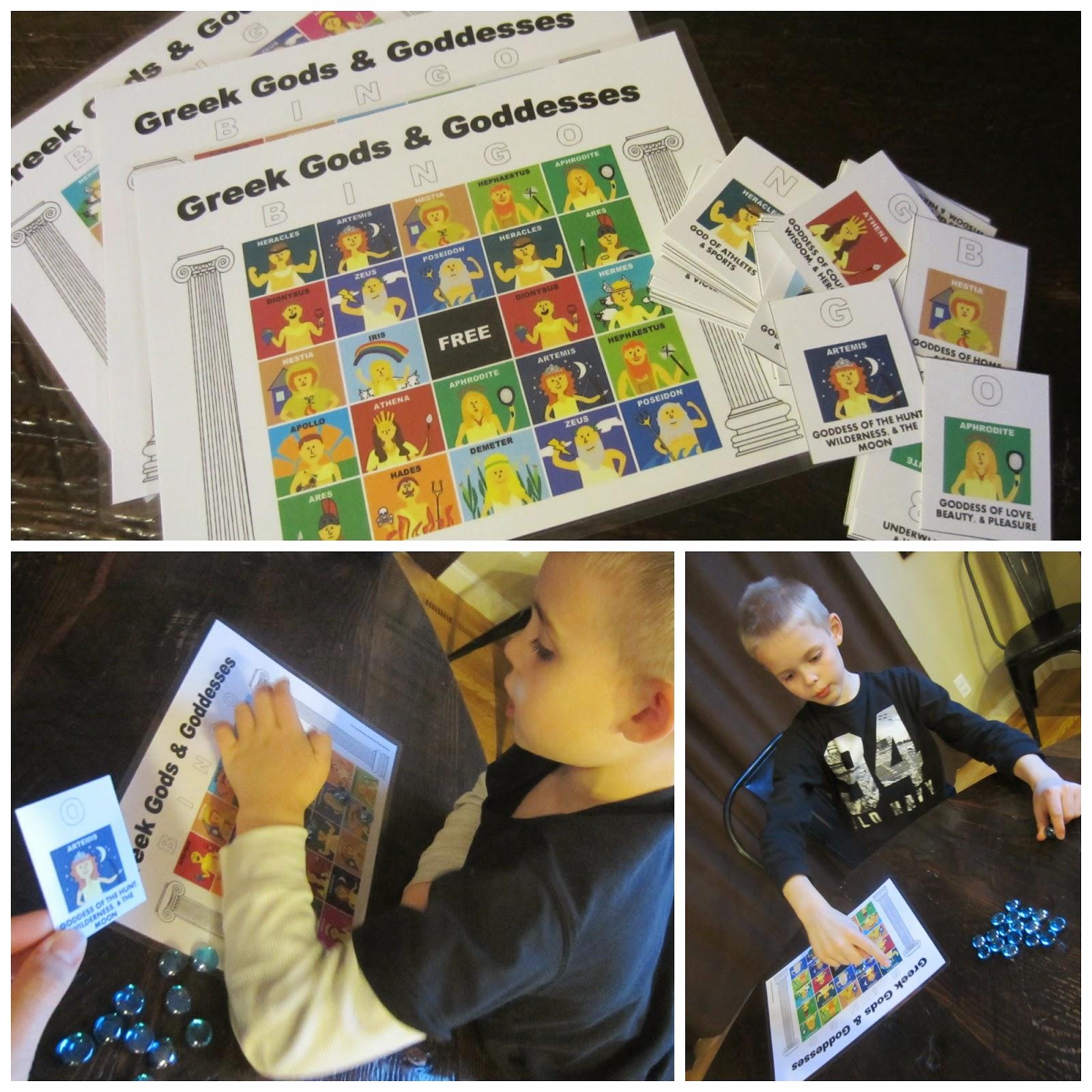 Relentlessly Fun Deceptively Educational Greek Gods And Goddesses Bingo Free Printable