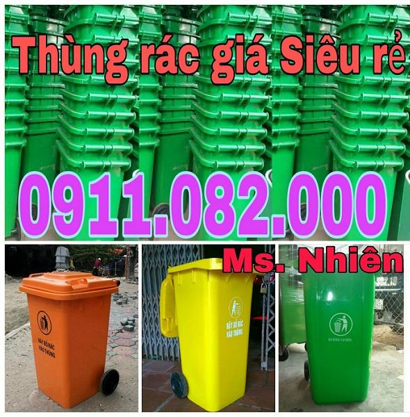 Thùng rác 120 lít 240 lít giá rẻ tại huyện củ chi- TPHCM- 0911082000