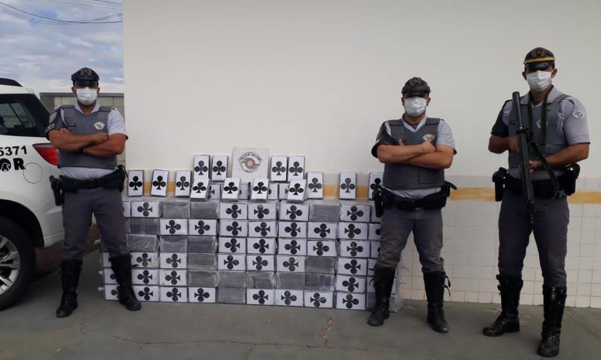 TOr apreende 550 quilos de cocaína em Itatinga