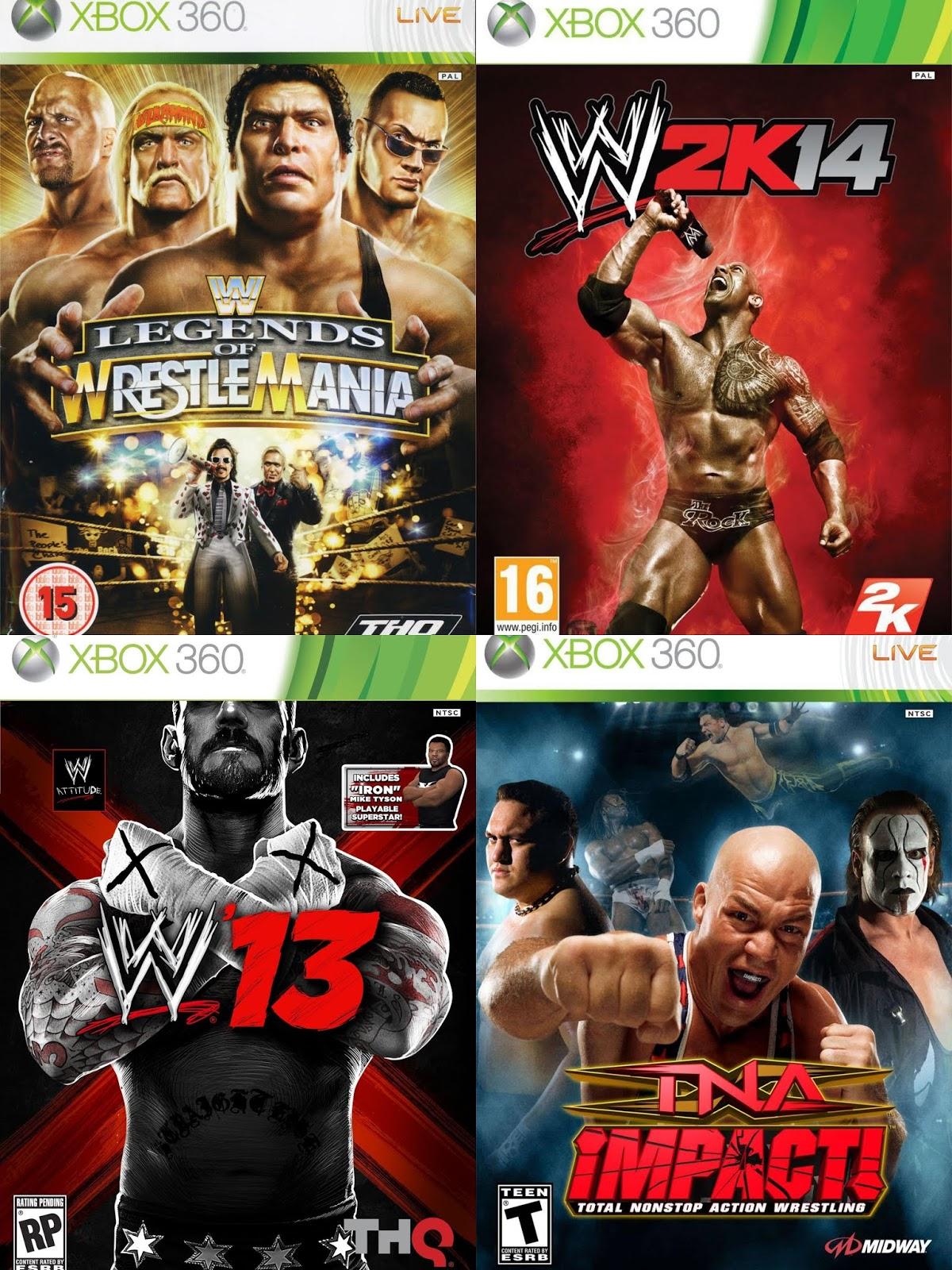 DAR Games: 9 Wrestling Games On Xbox 360 ...
