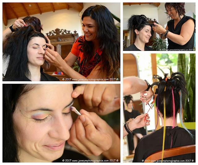 photo coiffure et maquillage de la mariée, reportage mariage vendée 85