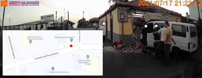 Breve vídeo com o acidente na mercearia de Santo Amaro