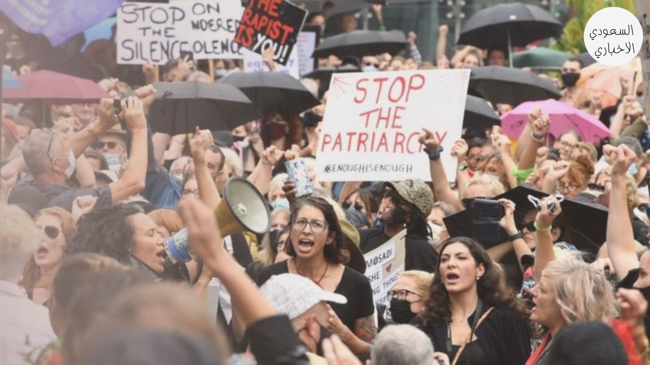 مظاهرة نسائية في أستراليا ضد التحرش الجنسي بالنساء.
