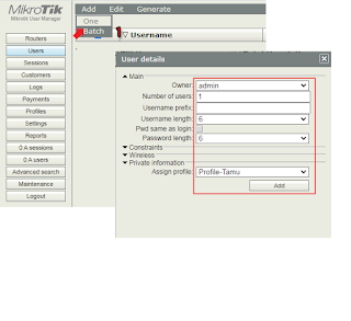 User Manager Mikrotik
