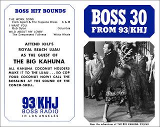 KHJ Boss 30 No. 50 - Lloyd Thaxton with The Big Kahuna