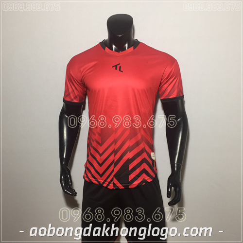 Áo bóng đá không logo TL Raki màu đỏ