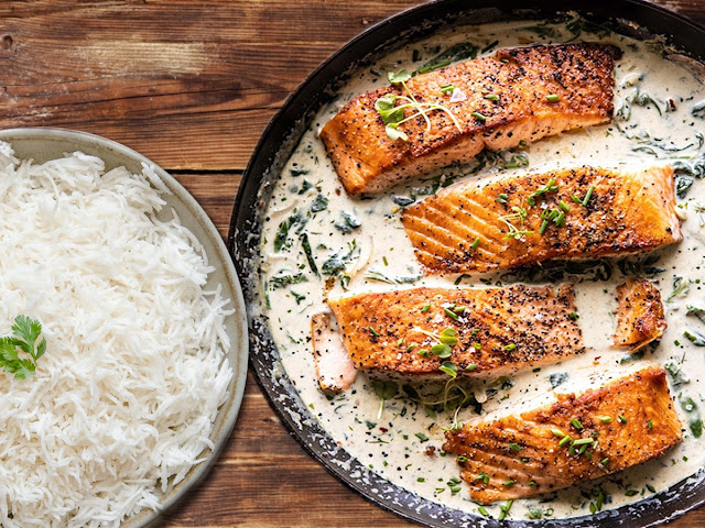 easy honey garlic butter baked salmon