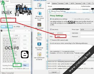 OCS-PB Multi Balancing Proxy Server dan Multy Proxy (Inject - SSH - Proxifier)