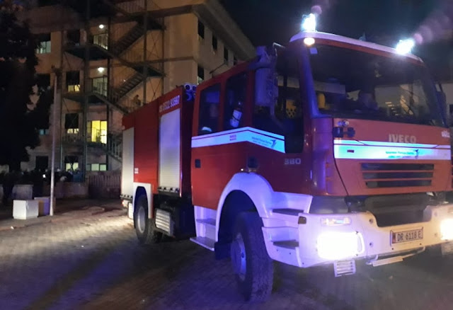 Durres Hospital on fire, 120 patients evacuated