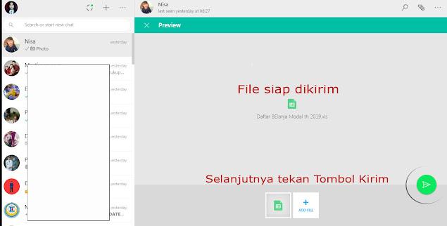 cara transfer file dokumen foto dari laptop ke wa