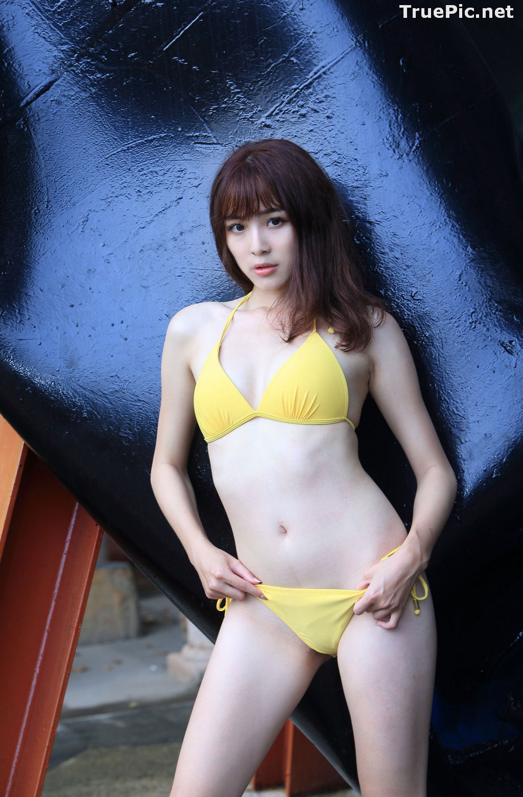 Image Taiwanese Model - Ash Ley - Yellow Bikini at Taipei Water Museum - TruePic.net - Picture-78