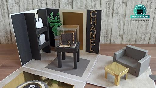 Geschenkbox Explosionsbox Überraschungsbox Gutschein Geldgeschenk Handtasche