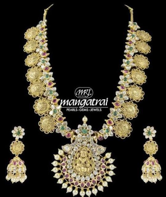 Uncut Diamond Lakshmi Haram