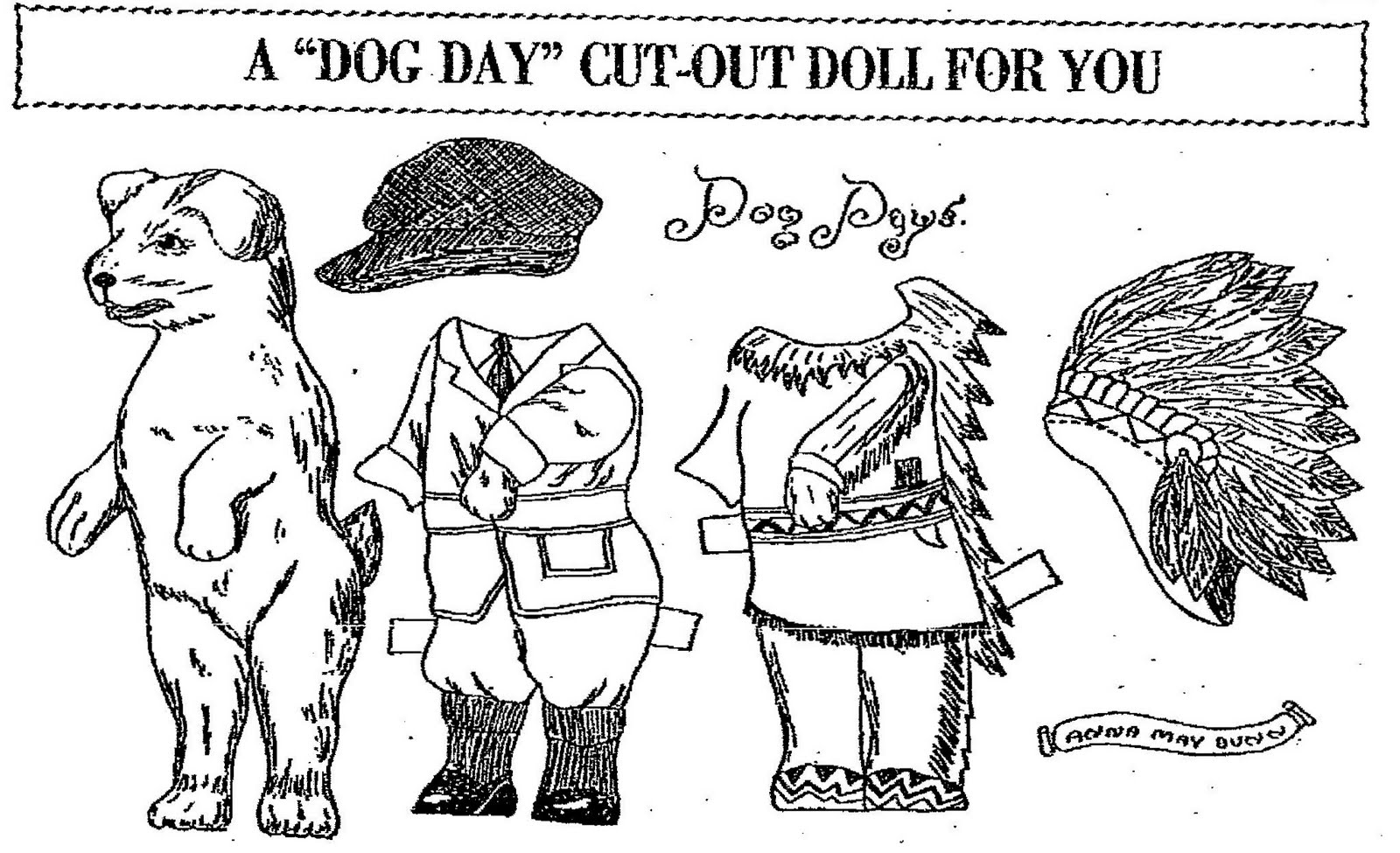 Mostly Paper Dolls: Going To The DOGS (and CATS too!)