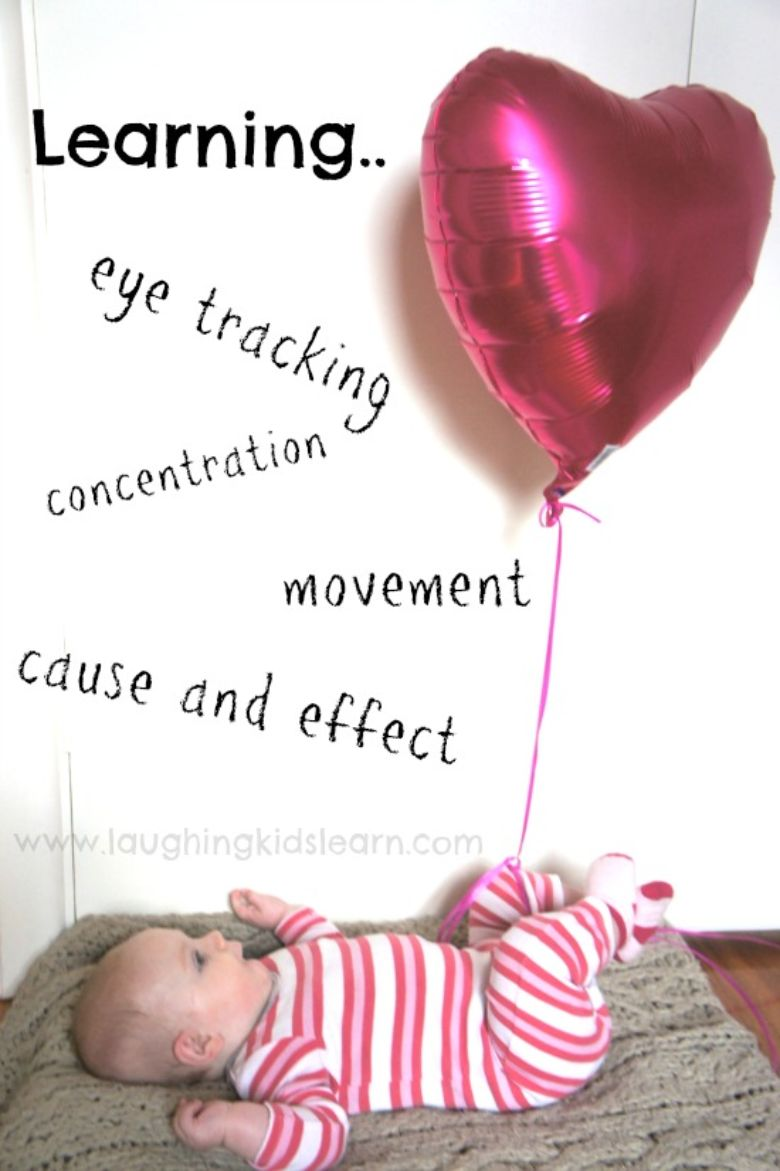 activities for babies - balloon kicking