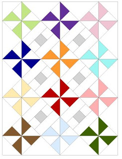 diagram of pinwheel parade quilt