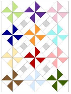 diagram of pinwheel parade quilt