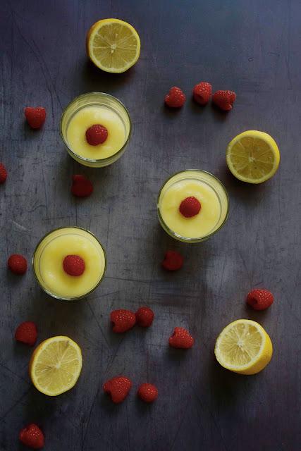 dessert fraîcheur au citron , préparation rapide , citron , lemon curd