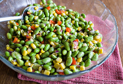 Edamame and Grilled Corn Salad
