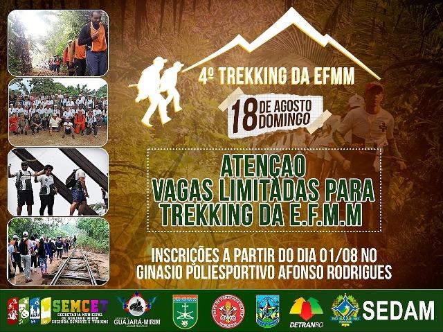 Inscrições abertas para o 4º Trekking de Aventura na EFMM