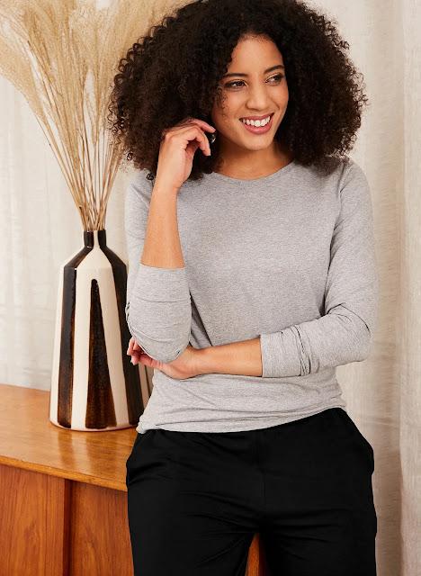 Baukjen organic cotton long sleeve top