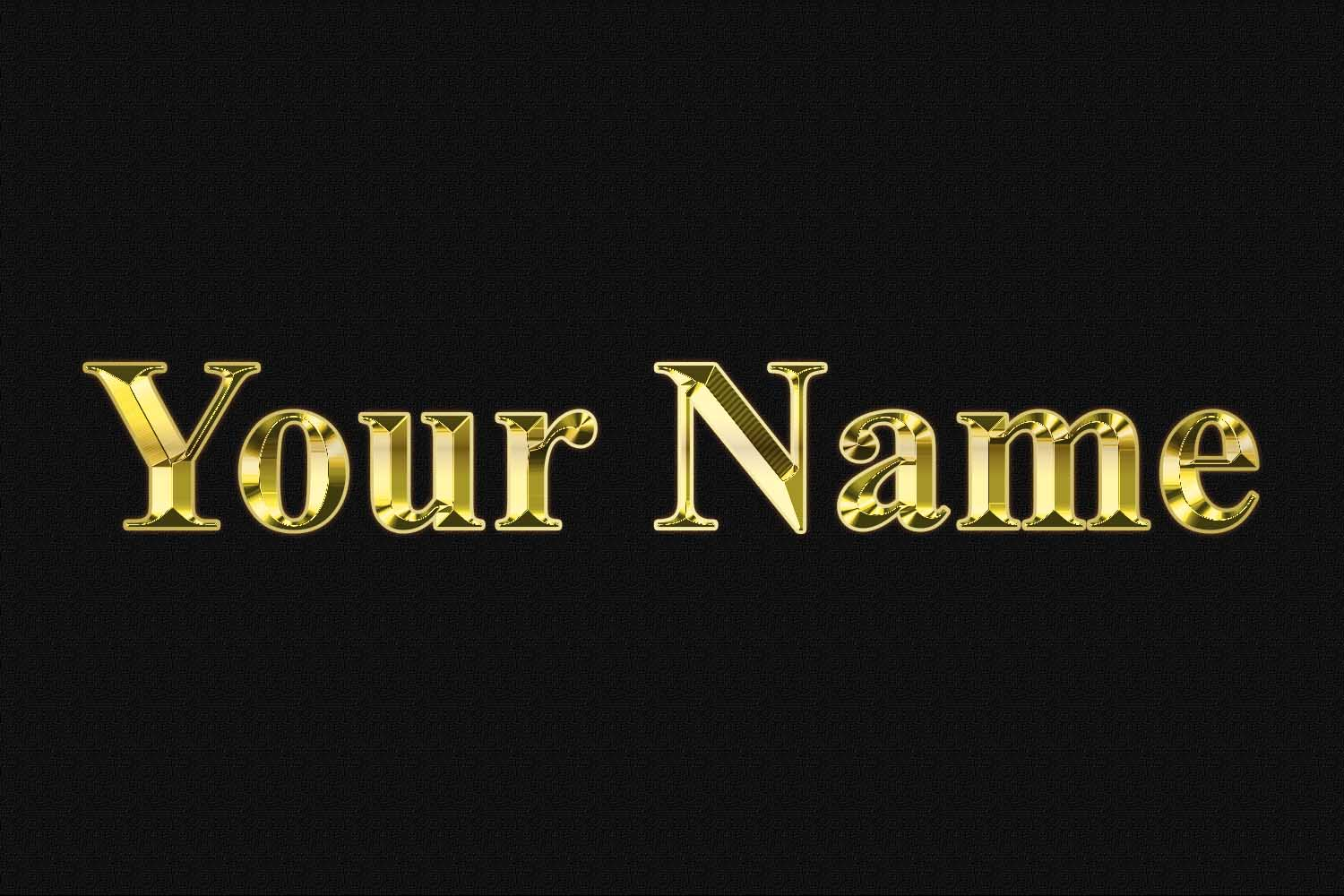 Photoshop Gold Text Effects PSD Free Download