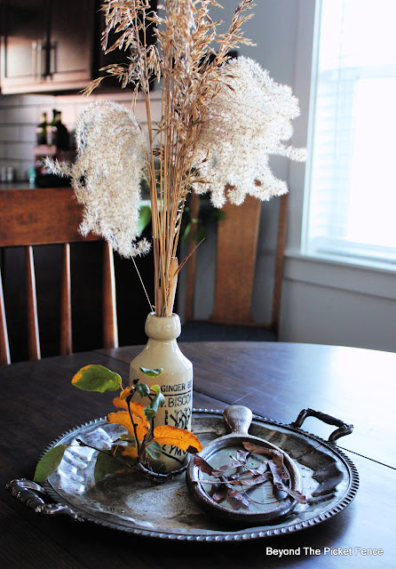 Fall Centerpiece with Found Items