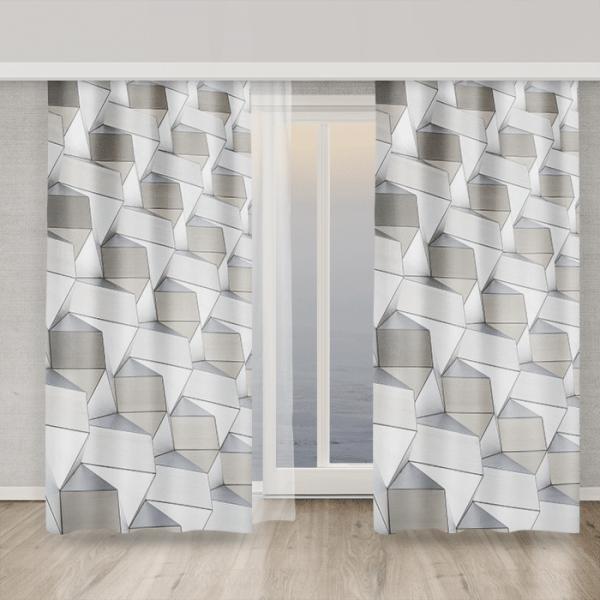Zasłony wzory geometryczne