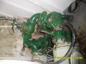 Inlet valve & outlet Compressor