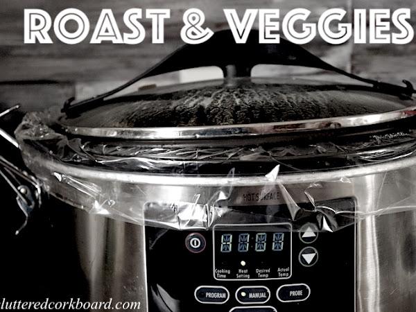 Simple CrockPot Meal   Roast and Veggies