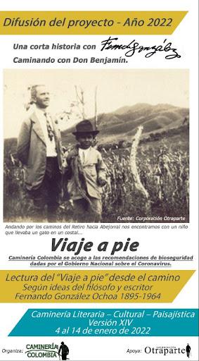 """Plegable """"viaje a pie"""" 2022"""