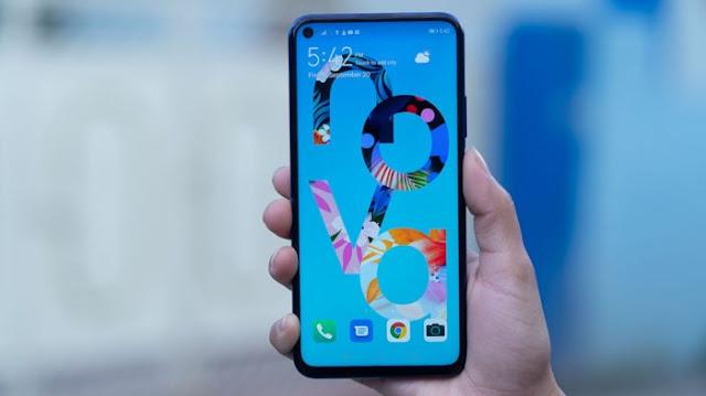 Huawei Nova 5T Layar dan Desain