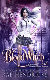 Blood Witch - a paranormal reverse harem academy book promotion by Rae Hendricks