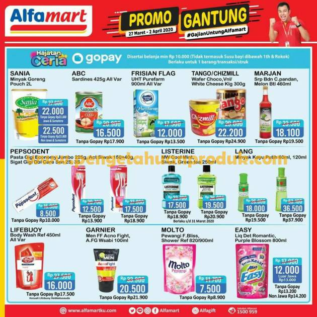 Katalog Promo Alfamart Gajian Terbaru Gantung 27 Maret 2 April 2020