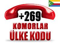 +269 Komorlar ülke telefon kodu